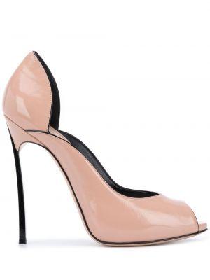 Туфли с открытым носком на шпильке Casadei