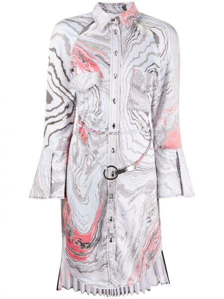 Платье макси на пуговицах плиссированное Thebe Magugu