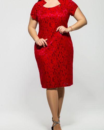 Коктейльное платье красный бордовый Vlavi