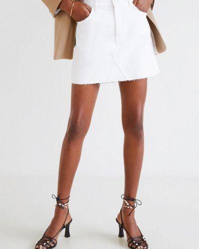 Джинсовая юбка весенняя белая Mango
