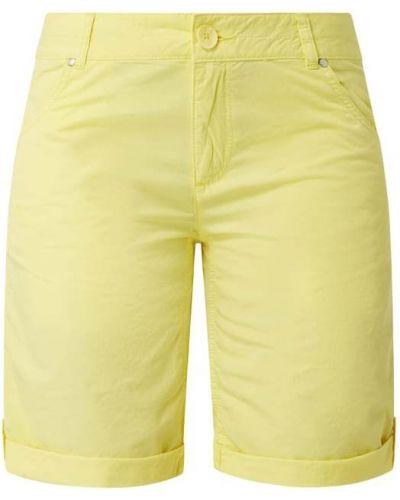 Bawełna żółty bermudy z zamkiem błyskawicznym z kieszeniami S.oliver Red Label