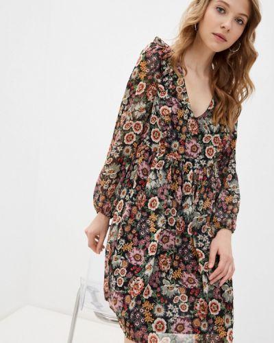 Разноцветное платье Naf Naf