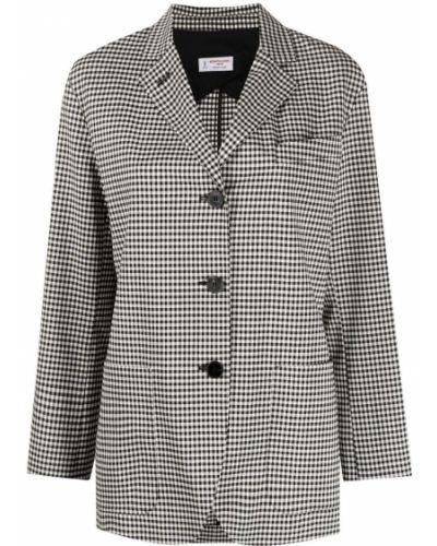 Однобортный белый удлиненный пиджак с карманами Alberto Biani