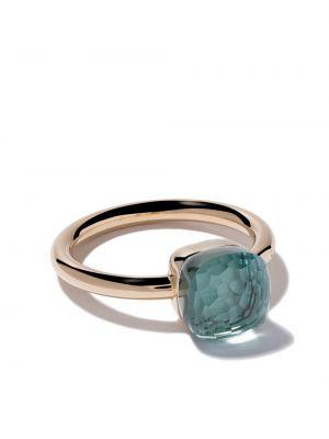 Niebieski złoty pierścionek do pracy Pomellato