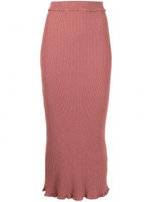 С завышенной талией трикотажная юбка с оборками Altuzarra