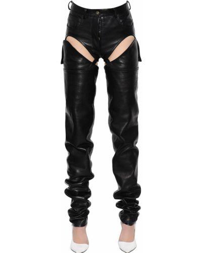 Кожаные брюки - черные Y Project