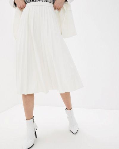 Белая кожаная юбка Unq