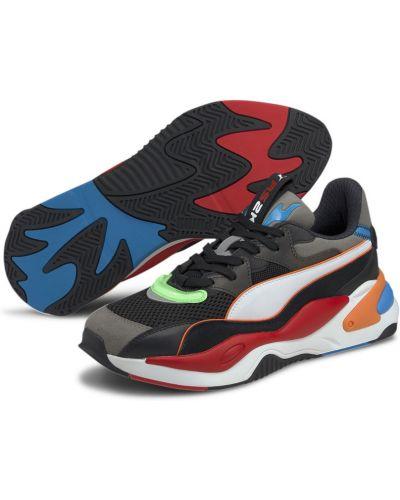 Черные текстильные кроссовки беговые для бега на шнуровке Puma