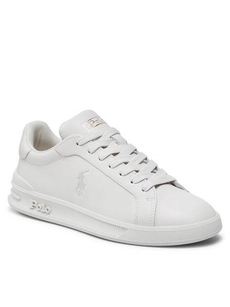 Buty sportowe skorzane - beżowe Polo Ralph Lauren