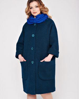 Пальто из ангоры - зеленое Mari-line