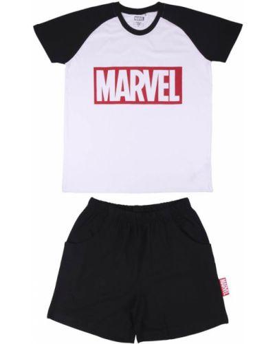 Piżama bawełniana - czarna Marvel