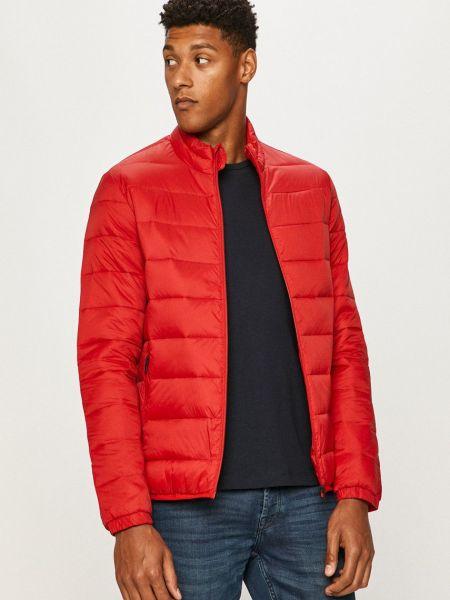 Красная стеганая куртка с воротником Jack & Jones
