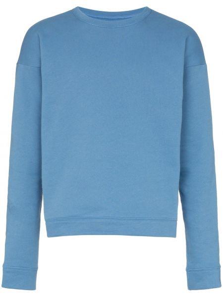 Niebieska bluza z długimi rękawami bawełniana The Elder Statesman