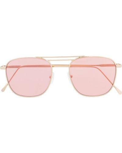 Złote okulary - różowe Eleventy