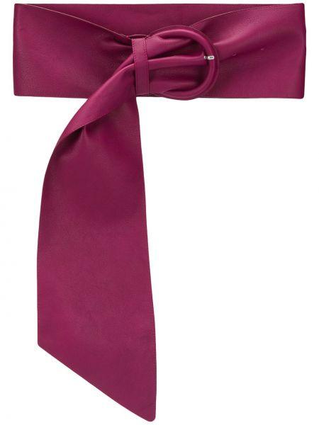 Różowy szeroki pasek metal z klamrą bezpłatne cięcie Msgm