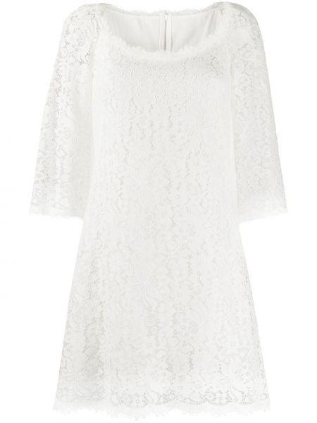 Платье мини на молнии шелковое Dolce & Gabbana