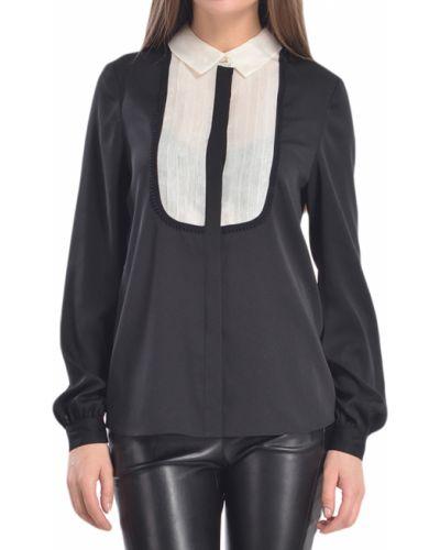 Черная блузка из полиэстера Armani Jeans