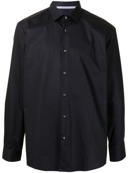 Bawełna z rękawami czarny klasyczna koszula Boss