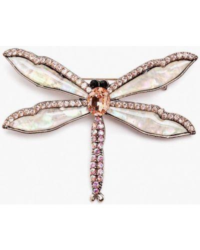 Брошь из золота розовый Patricia Bruni