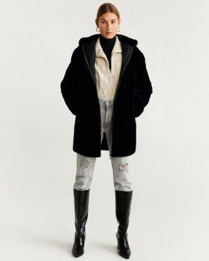 Пальто с капюшоном длинное пальто Mango