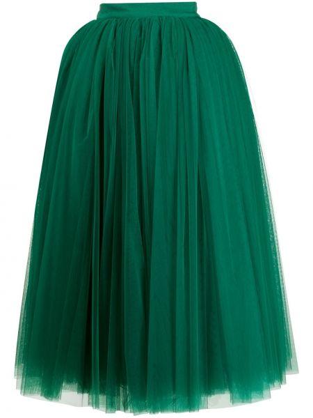 Ажурная пышная юбка макси на молнии из фатина Dolce & Gabbana