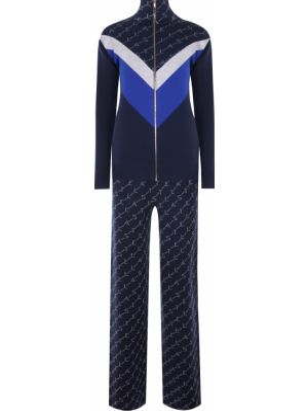 Прямой спортивный костюм с поясом на молнии Stella Mccartney