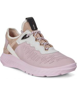 Текстильные кроссовки на шнурках с подкладкой Ecco