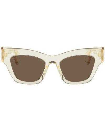 Złote okulary - białe Han Kjobenhavn