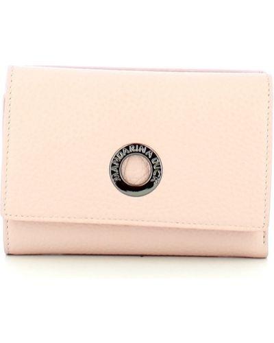 Różowy portfel skórzany Mandarina Duck
