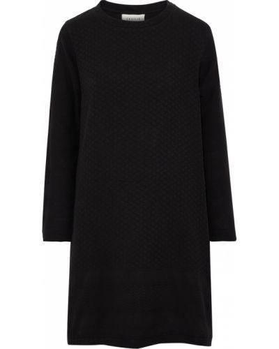 Хлопковое платье мини - черное Cecilie Copenhagen