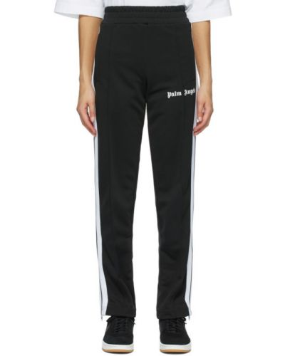 Трикотажные черные классические брюки в полоску Palm Angels
