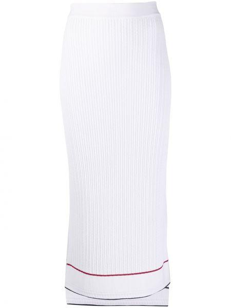 С завышенной талией юбка миди с разрезом с поясом из вискозы Thom Browne