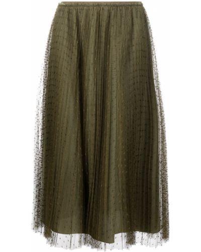 С завышенной талией плиссированная юбка миди из фатина Red Valentino