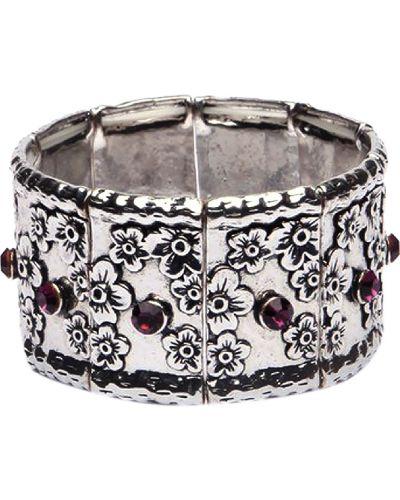 Серебряный браслет с аметистом серебряный Nature Bijoux