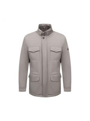 Серая утепленная куртка Moorer