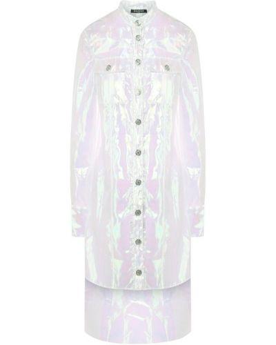 Блузка длинная с карманами Balmain