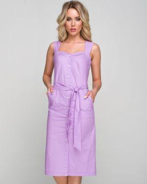 Летнее платье с декольте макси Ellcora