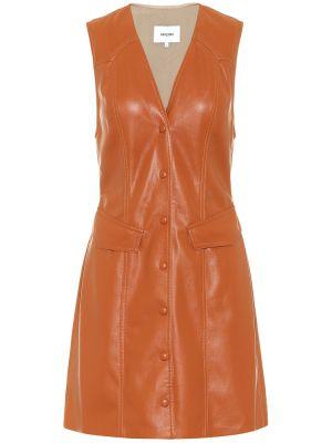 Платье кожаное Nanushka