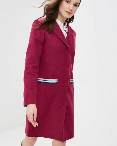 Фиолетовое пальто с капюшоном Grand Style