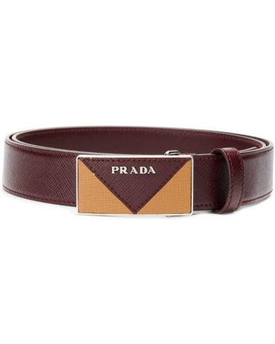 Ремень фиолетовый с пряжкой Prada