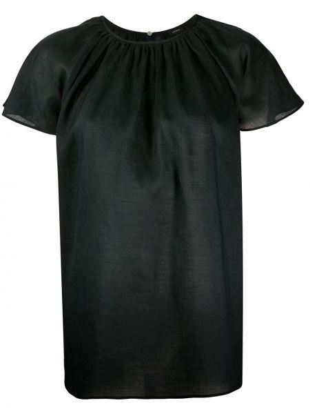 Расклешенный черный свободные топ с круглым вырезом Joseph