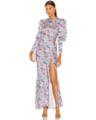 Фиолетовое свободное деловое платье макси Elliatt