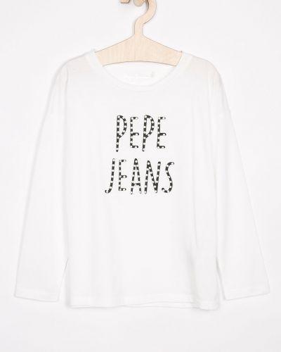 Белая блуза Pepe Jeans