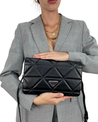 Кожаная сумка через плечо - черная Polina & Eiterou