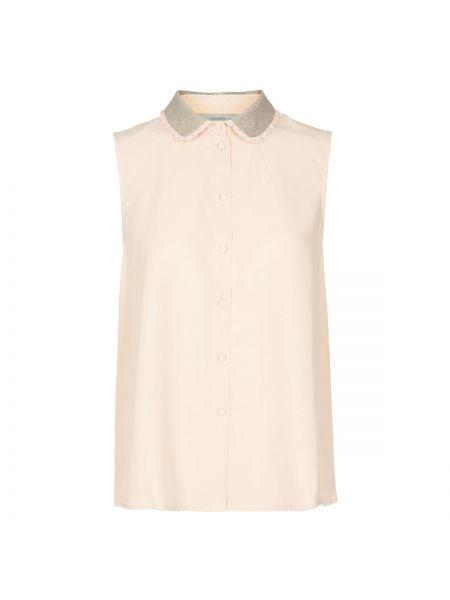 Розовая блузка без рукавов с воротником из вискозы без рукавов NÜmph