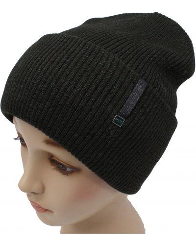 Зеленая шапка с люрексом Leks-jolie