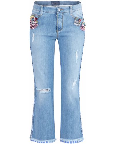 Расклешенные джинсы винтажные с карманами Ermanno Scervino