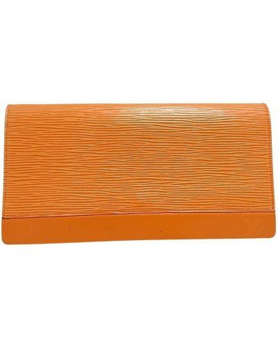 Kopertówka skórzana - pomarańczowa Louis Vuitton Vintage