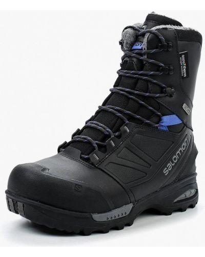 Черные кожаные ботинки Salomon