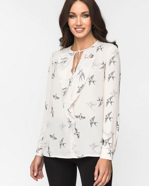 Блузка с длинным рукавом белая Gloss